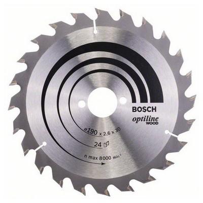 Bosch Optiline Wood 190*30 mm 24 Diş Daire Testere Bıçağı - 260864