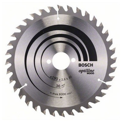 Bosch Optiline Wood 190*30 mm 36 Diş Daire Testere Bıçağı - 260864