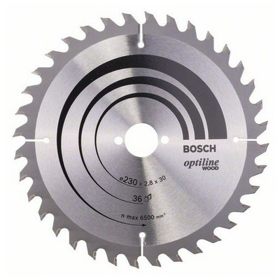 Bosch Optiline Serisi Ahşap İçin Daire Testere Bıçağı - 230 X 30 X 2,8 Mm, 36 Diş Makine Aksesuarı