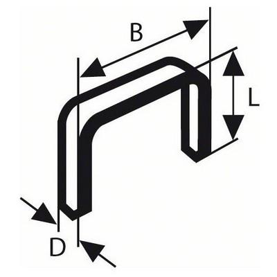Bosch Zımba Teli Tip 53 11,4*0,74*14 mm  - 1609200368