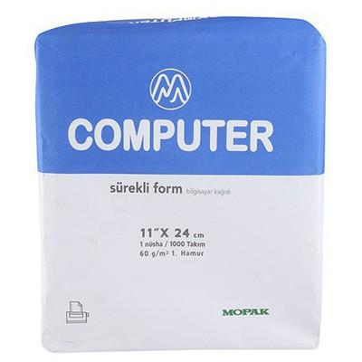 Mopak Sürekli Form Kağıdı 11 X 24 Cm 1 Nüsha 60 Gr 1000'li