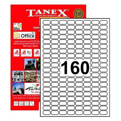 Tanex 22x12 Mm Laser Etiket Tw-2280 Lazer Etiketleri