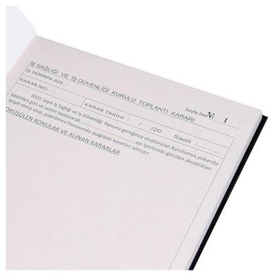 Dilman Iş Sağlığı Ve Iş Güvenliği Kurulu Karar Defteri Resmi Evrak