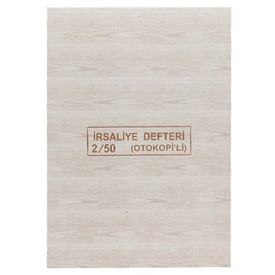 Dilman Irsaliye Defteri Otokopili 3 Nüshalı No. 2 (13.3 X 19.3 Cm) Resmi Evrak