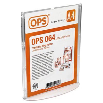 OPS 064 A4 Dikey Afiş Taşıyıcı Sunum Ürünleri