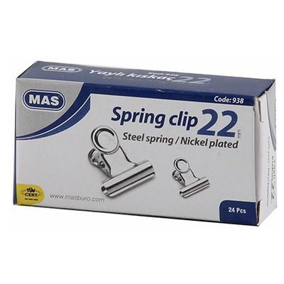 MAS 938 Beyaz Metal Kıskaç 22 Mm Tutturucu