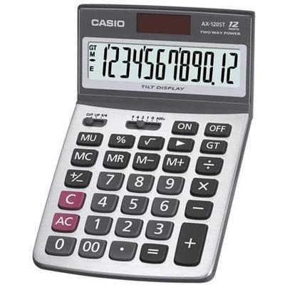 Casio  AX-120ST 12 HANE MASAÜSTÜ HESAP MAKİNESİ