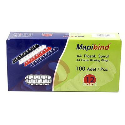 """Mapibind 100""""lü 12 Mm Plastik Spiral Ciltleme Ürünü"""