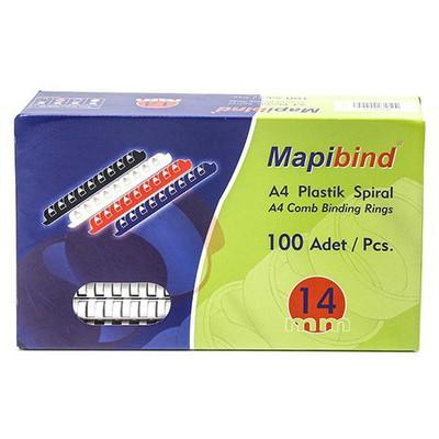 """Mapibind 100""""lü 14 Mm Plastik Spiral Ciltleme Ürünü"""