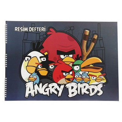 Keskin Color Angry Birds 35x50 15 Yp Spiralli Resim i Defter