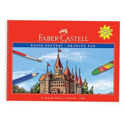Faber Castell 25x35 Spiralli Resim i 15 Yaprak Defter