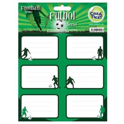 Crea Tiket Creatiket 1020 Futbol Serisi Okul Etiketi Okul Etiketleri