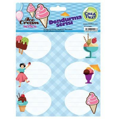 Crea Tiket Creatiket 1028 Dondurma Serisi Okul Etiketi Okul Etiketleri