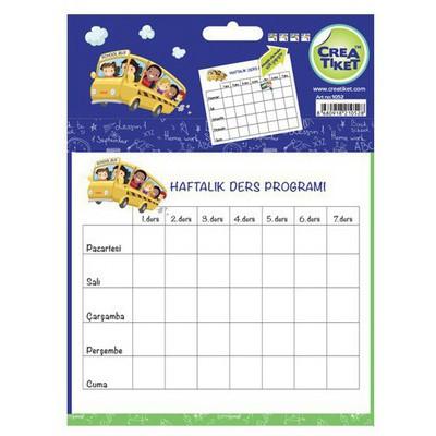 Crea Tiket 1052 Haftalık Ders Programı Okul Etiketi Okul Etiketleri