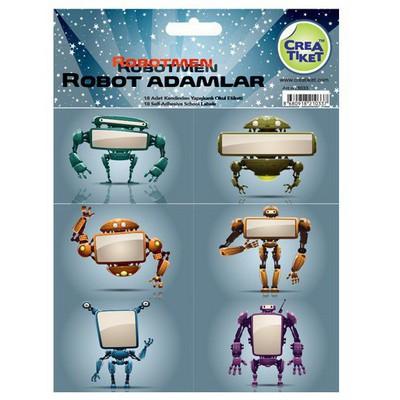 Crea Tiket 1033 Robot Adamlar Serisi Okul Etiketi Okul Etiketleri