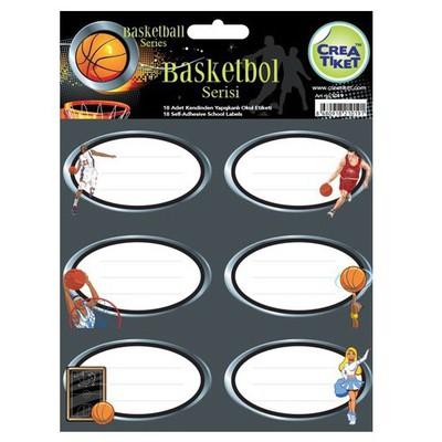 Crea Tiket Creatiket 1019 Basketbol Serisi Okul Etiketi