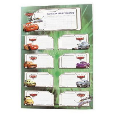 Keskin Color Cars Ders Programı 3`lü Etiket Okul Etiketleri