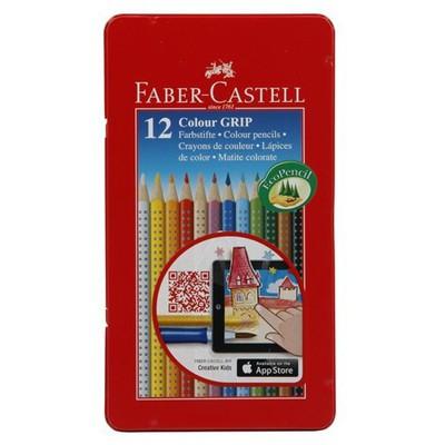 Faber Castell Grip 2001 12 Renk Metal Kutu Boya Kalemi Resim Malzemeleri