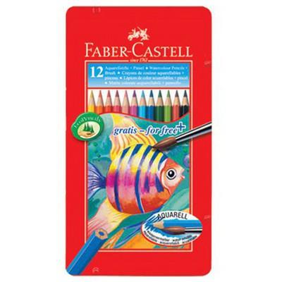 Faber Castell Karton Kutu Aquarel Boya Kalemi 12 Renk Resim Malzemeleri