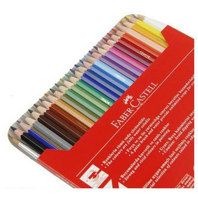 Faber Castell Karton Kutu Aquarel Boya Kalemi 24 Renk Resim Malzemeleri