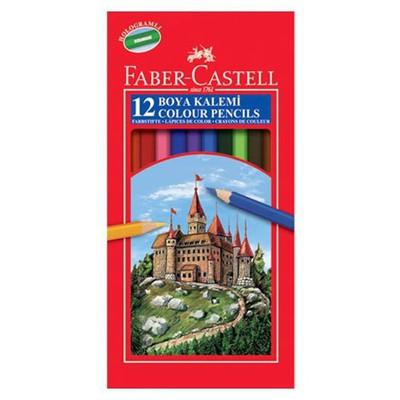 Faber Castell Karton Kutu Boya Kalemi 12 Renk Tam Boy Resim Malzemeleri