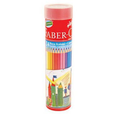 Faber Castell Metal Tüpte Boya Kalemi 24 Renk Kuru Boya