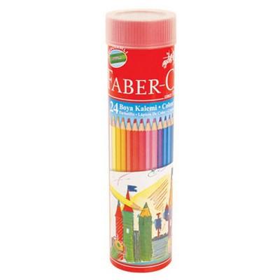 Faber Castell Metal Tüpte Boya Kalemi 24 Renk Resim Malzemeleri