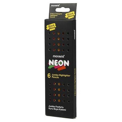 Monami Neon Jumbo Fosforlu Kuru Boya 6 Renk Resim Malzemeleri