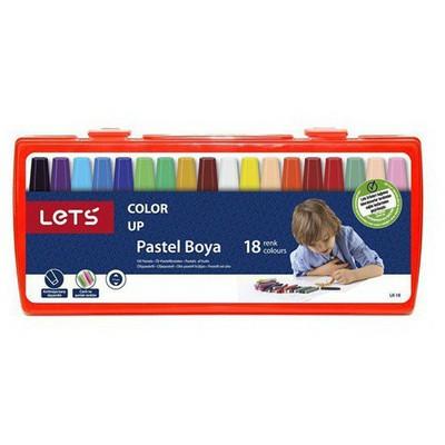 Lets 18 Renk Pastel Boya Çantalı Lk-18 Resim Malzemeleri