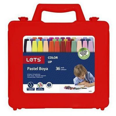 Lets 36 Renk Pastel Boya Çantalı Lk-36 Resim Malzemeleri