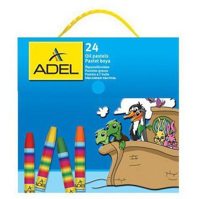 Adel 1824 Çantalı 24 Renk Pastel Boya