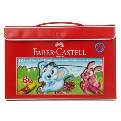 Faber Castell 18 Renk Plastik Çantalı Pastel Boya Resim Malzemeleri