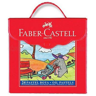 Faber Castell 24 Renk Plastik Çantalı Pastel Boya Resim Malzemeleri