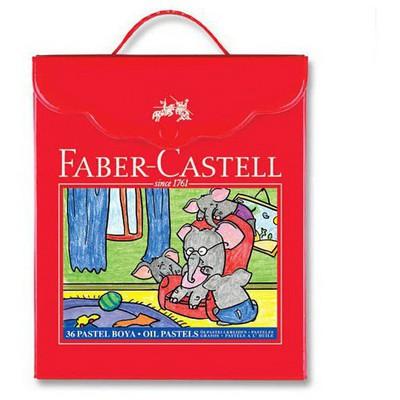 Faber Castell 36 Renk Plastik Çantalı Pastel Boya Resim Malzemeleri