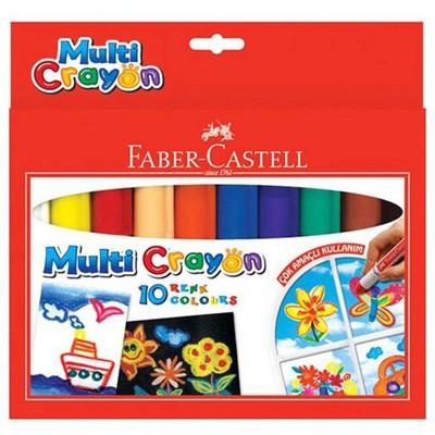 Faber Castell Multi Crayon Pastel 10 Renk Resim Malzemeleri
