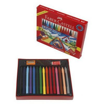 Faber Castell Silinebilir Wax Crayon Pastel 15 Renk Resim Malzemeleri