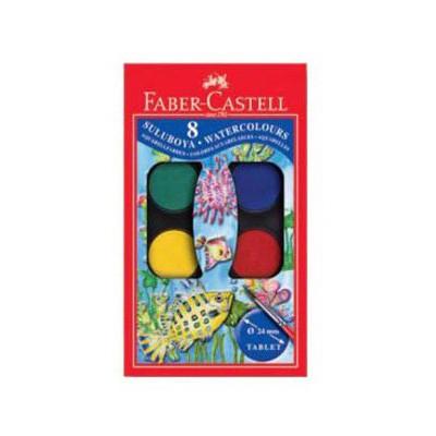 Faber Castell Redline Sulu Boya 8 Renk Küçük Boy Resim Malzemeleri