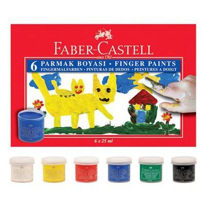 Faber Castell Parmak Boyası 6 Renk Resim Malzemeleri