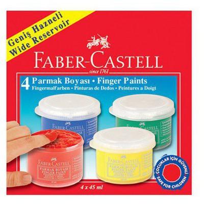 Faber Castell Parmak Boyası 45 Ml 4 Renk Resim Malzemeleri