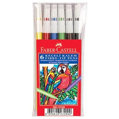 Faber Castell Keçeli Kalem 6'lı Poşet Resim Malzemeleri