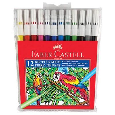 "Faber Castell Keçeli Kalem 12""li Poşet Resim Malzemeleri"