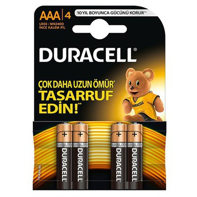 Duracell Alkalin Aaa Ince Kalem Pil 4'lü Pil / Şarj Cihazı