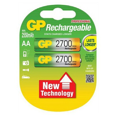 GP Şarjlı Kalem Pil Aa2700 Nı-mh 2 Adet Model Gp270aahctr-ju2 Pil / Şarj Cihazı