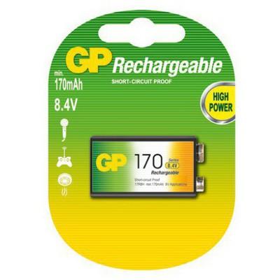 GP 170 Mah Şarjlı 9v Pil Pil / Şarj Cihazı