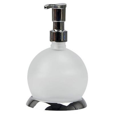 Çelik Ayna Sıvı Sabunluk Cam Küre Banyo Aksesuarı