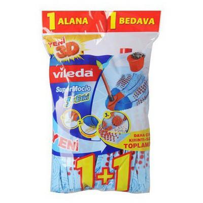 Vileda Supermocio 3xetkili Paspas Yedeği 1+1 Kova ve Temizlik Setleri