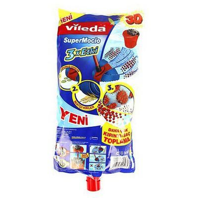 Vileda Supermocio Paspas Yedeği 3x Etki Mop ve Aparatları