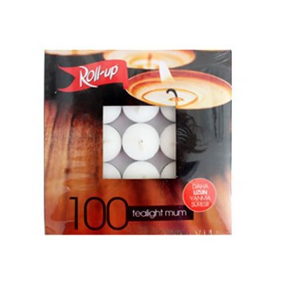 Roll-Up Tea-light Mum 10 G 100 Adet Koku & Aparat