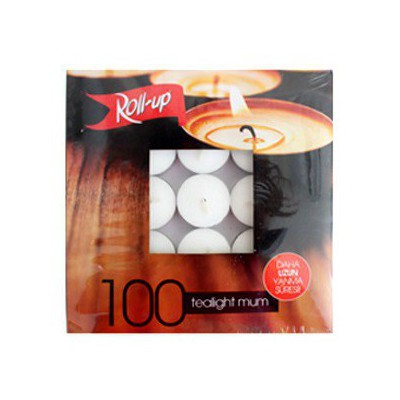 Roll-Up Tea-light Mum 12 Gr ( 100'lü Paket) Dekoratif Ürünler