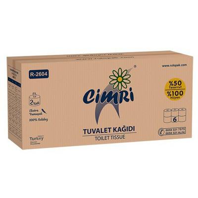 Rulopak Cimri Içten Çekmeli  6 Adet 1 Koli Model R-2604 Tuvalet Kağıdı